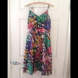 J Crew Brushstoke Midi Dress